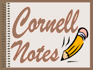 What are Cornell Notes?