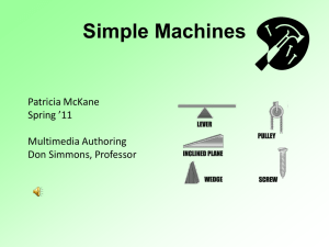 Simple Machines Power Point