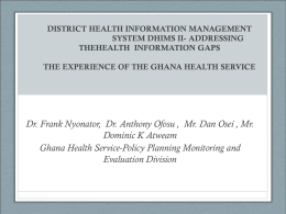 Addressing health information gaps in Ghana