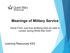 Home Front (Powerpoint) - Meanings of Military Service 1914