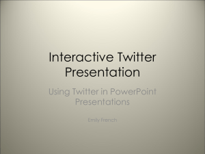 Interactive Twitter Presentation - The Housing e