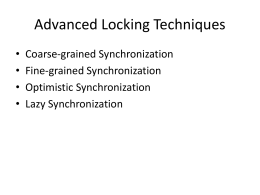 More on Locking