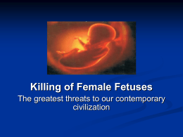 Presentation-Female Foeticide