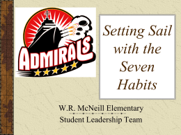 Setting Sail With the 7 Habits