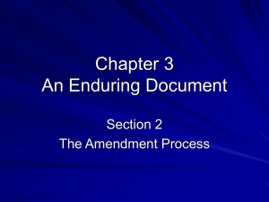 Chapter 3 An Enduring Document