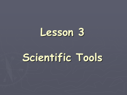 Lesson 3 Science Tools