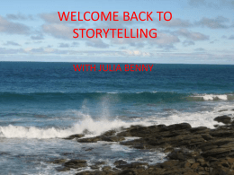 WELCOME BACK TO STORYTELLING