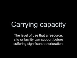 Carrying capacity ppt - Abingdon School Study Site