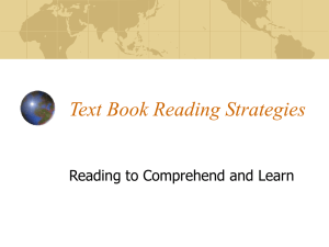 Text Book Reading Strategies
