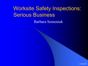 Worksite Safety Inspections