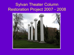 repaired the columns
