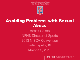 Avoiding Sexual Abuse - National Federation of State High School