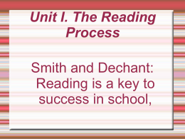 reading beed - Developmental Reading