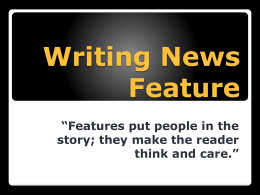 Writing News Feature