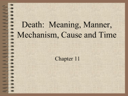 Determine Time of Death