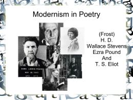 Modernism in Poetry