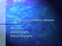 Biography PPT