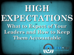 High Expectations & Accountability PowerPoint