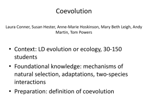 coevolution, mountain west 2012
