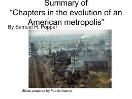 Chapters in the evolution of an American metropolis - Rutgers