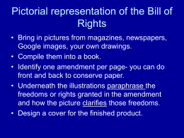 Pictorial representation of the Bill of Rights