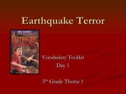 Earthquake Terror