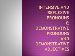 Demonstrative Pronouns - Madison County Schools