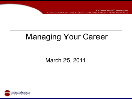 Managing-Your-Career.. - Active Job Seekers of America