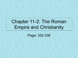 Chapter 11-2: The Roman Empire and Christianity
