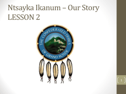 Lesson 02 () - The Confederated Tribes of Grand Ronde