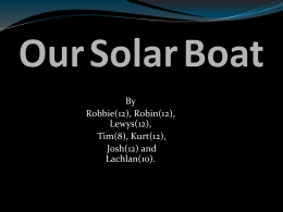 Our Solar Boat 3