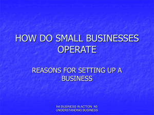 3. Reasons for setting up a business