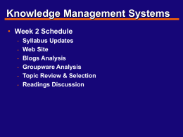 Foundations of Knowledge Management