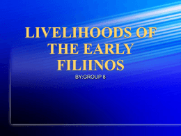 livelihoods of the early filipinos