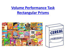 CC Performance Task Volume and Surface Area Rectangular