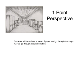 1 Point Perspective - Mrs. Gariepy