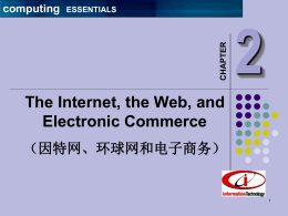 Ch 8: The Internet, the Web, and Electronic Commerce