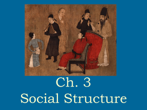 Ch 3 Social Structure