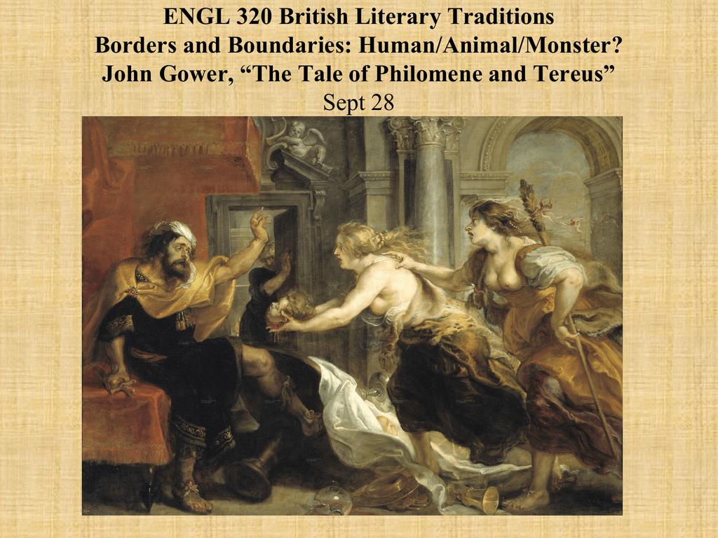 EVANS ENGL 320 PP Philomene and Tereus Sept 28