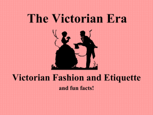 PPT: Victorian Fashion & Manners - euro