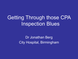 Getting through those CPA Inspection Blues