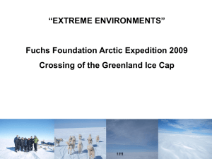 Extreme Environments - Crossing of the