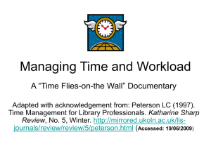 Managing Time and Workload