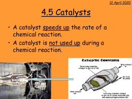 4.5 Catalysts