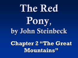 The Red Pony, by John Steinbeck