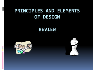 Principles & Elements of Design for Fashion