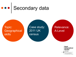 Secondary data - Geography in the News