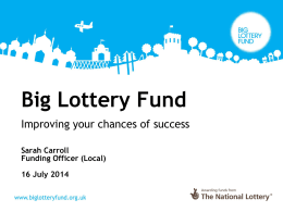 Big Lottery Fund - Community Action Isle of Wight