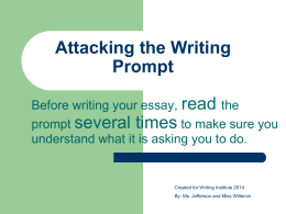 Attacking the Writing Prompt