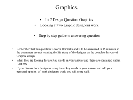 Graphics question B Mucha Glaser